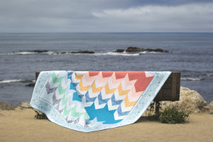 Down By The Sea Quilt by Stacey Day. Photo by Danielle Collins.