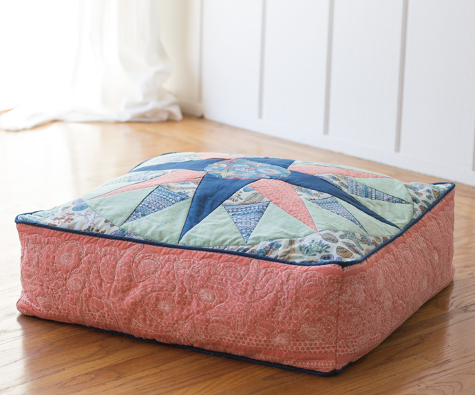 Compass Pillow by Stacey Sharman. Photo by Danielle Collins.