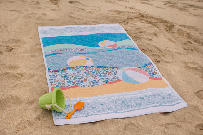 Day At The Shore Quilt by See How We Sew. Photo by Danielle Collins