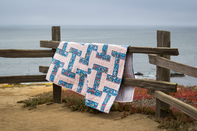 Eucalyptus Rain Fence Quilt by Madeleine Roberg. Photo By Danielle Collins