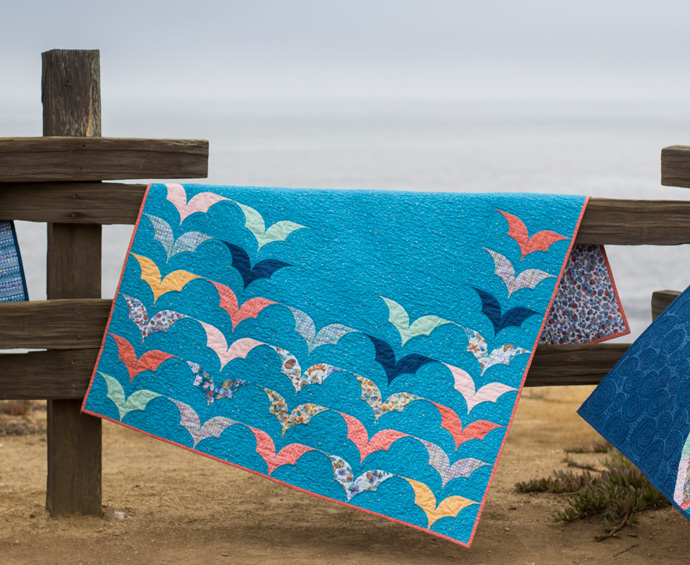 Happy Kelp Quilt by Adrianne Ove. Photo by Danielle Collins