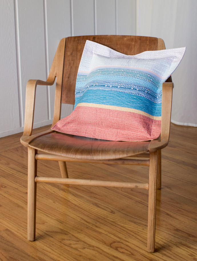 Tidal Layers Pillow by Ann Haley. Photo by Danielle Collins.