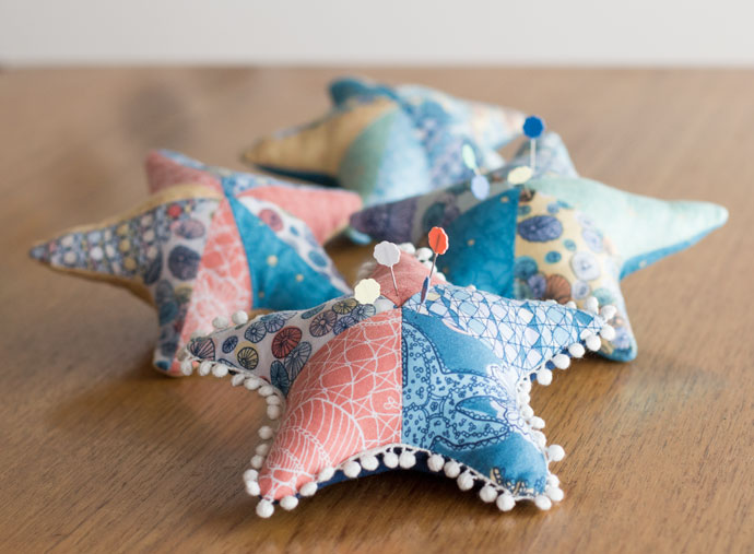 Sea Star pin cushions.