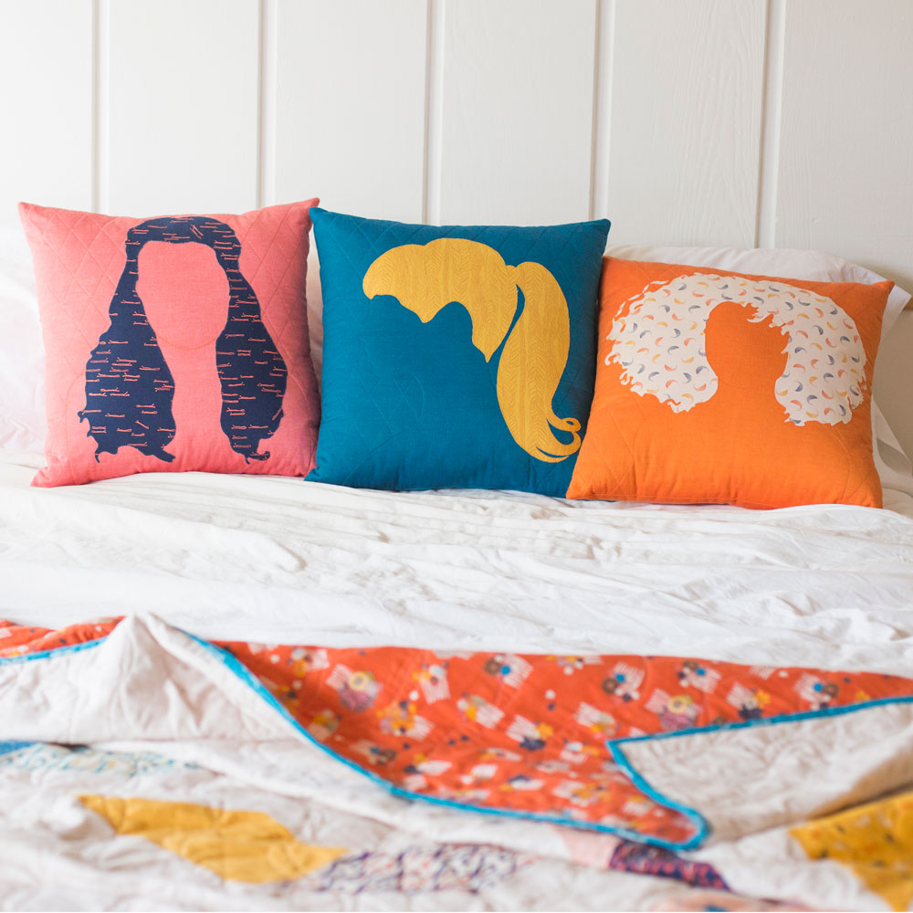 Good Hair Day Pillow Set. Photo by Danielle collins